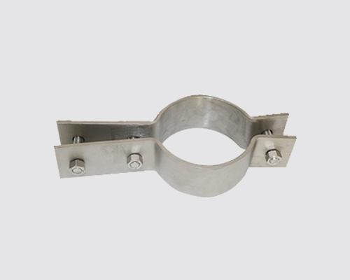 不锈钢三螺栓扁钢管夹